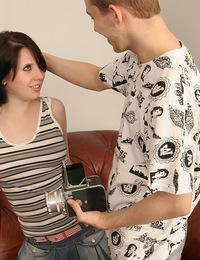 Extreme teen sex during photo session